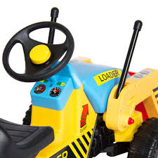 best choice products kids pedal ride on excavator front loader truck
