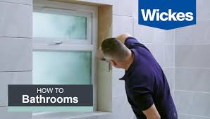 how to paint over bathroom wall tile how to tile around a window with wickes youtube
