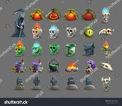 Happy Halloween Icons Set Colorful Happy Halloween Icons Vector Stock Vector 495380095