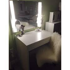 makeup and hair vanity ikea micke desk ikea mirror ikea swivel