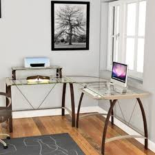 nickel plated desk l chagne gold desk wayfair