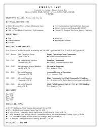 airplane pilot resume sample u0026 examplepilot resume military