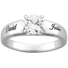 wedding rings at walmart personalized sterling silver with cubic zirconia engagement