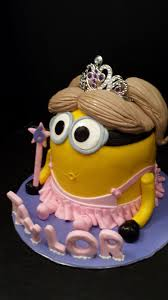 princess minion birthday cake image inspiration of cake and