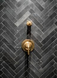 amazing shower boats slate herringbone tiled surround accented