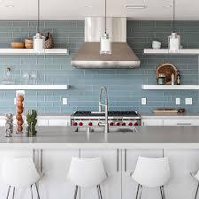 white kitchen cabinets with blue subway tile 75 blue backsplash ideas navy aqua royal or coastal