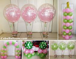air balloon decoration package colors lime green u0026 baby pink