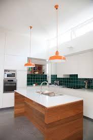 Green Backsplash Kitchen Kitchen Design In White With Green Backsplash And Bright