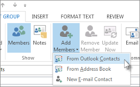 how to create an outlook address book in 2013 create a contact group or distribution list in outlook for pc outlook