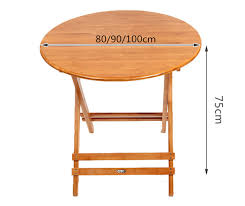 foldable round dining table aliexpress com buy bamboo furniture folding round table 80 100cm