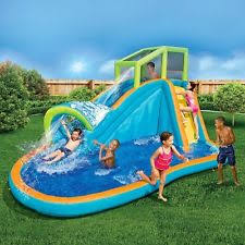 Best Backyard Water Slides Inflatable Water Slide Splash Play Center For Kids Outdoor