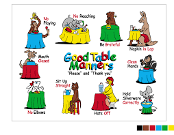 Dining Room Etiquette by The Good Table Manners Placemat For Teaching 3 9 Year Olds From