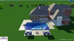 modern pool with negative edge spa youtube