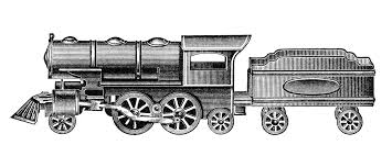 free vintage train clip art 34
