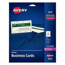 Avery Template For Business Cards Avery Laser Microperforated Business Cards 2 X 3 12 Ivory Pack Of