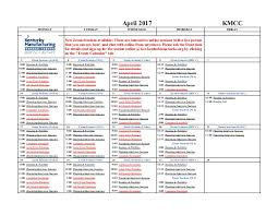 Front Desk Anywhere by Kentucky Manufacturing Career Center Calendar April 2017