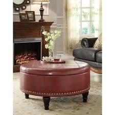 Leather Storage Ottoman Coffee Table Coffee Table Interesting Round Leather Ottoman Coffee Table Round