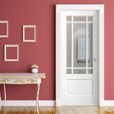 White Toughened Glass Bedroom Furniture Downham White Door With Bevelled Clear Safety Glass Safety Glass