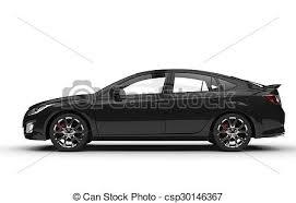 si e auto sport black auto sport ausgabe schwarz seitenansicht stock illustration