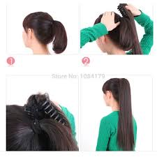 hair clip poni hair look synthetic hair extension clip in