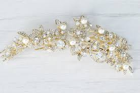 bridal accessories nyc gold floral hair comb bridal hair comb bridal accessories