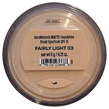bareminerals spf 15 foundation fairly light amazon com bare escentuals bare minerals foundation matte spf 15