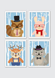 Woodland Animal Nursery Decor by Hipster Woodland Animals Nursery Art Woodland Animals Prints