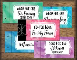 friend bff coupon book printable instant download by printsoflife