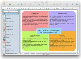 how to create swot analysis template using conceptdraw pro swot