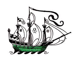 vintage clip art pirate ship the graphics fairy