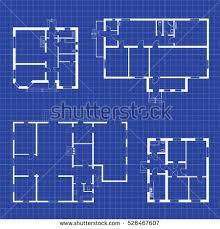 floor plans blueprints set floor plans blueprints vector unfurnished stock vector