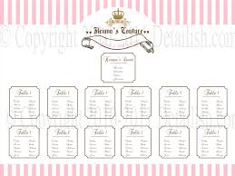 bridal shower seating chart template 28 images wedding seating