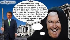 Newt Gingrich Meme - government shutdown hillary clinton meme