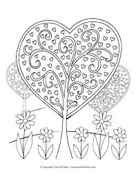 valentines color page heart trees valentines day coloring page trail of colors