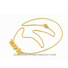 Necklace With Name Gold Plated Stainless Steel Name Necklace With Name Maria