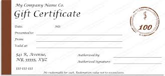 free editable gift certificate templates