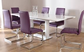 Faux Leather Dining Chairs With Chrome Legs Interior Furniture Living Room Dining Impressive White Fabric