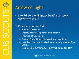scout light show ceremonies for cub scout packs