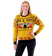 guns n u0027 roses mustard ugly christmas sweater