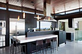 breakfast bar kitchen exceptional glass u0026 wood home in los