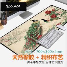 bureau d 騁ude fluide chinois peinture imprimer tapis de souris jeu fluide bureau souris