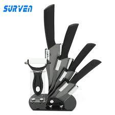 Kyocera Kitchen Knives Surven Kyocera Ceramic Knife Set 3 4 5 6 Inch Black Kitchen