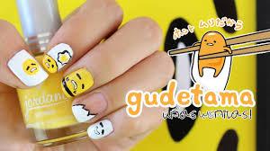 uñas kawaii gudetama nails akari beauty youtube