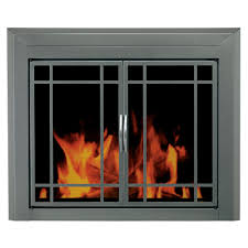 pleasant hearth edinburg medium glass fireplace doors ed 5411