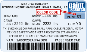 hyundai touch up paint color code and directions for hyundai