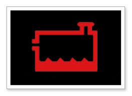 low coolant level warning light