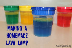 making a homemade lava lamp teaching mama