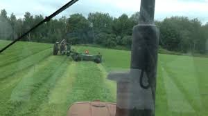 mowing hay with john deere 925 discbine youtube