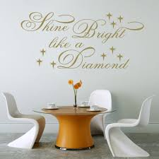 Bedroom Wall Stickers Sayings Shine Bright Like A Diamond Rihanna Lyric Wall Decal Sticker
