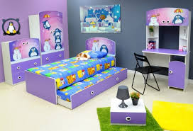 Cheap Childrens Bedroom Furniture Uk Lilac Penguin Bed With Trundle And Bedroom Furniture Set